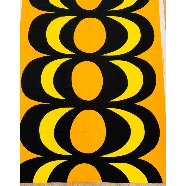 615d13b387cd 1965 Vintage Marimekko Maija Isola Orange & Yellow Fabric For Sale - Image  9 of 13