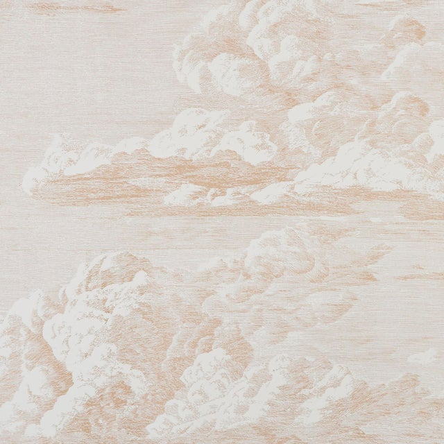 Schumacher Schumacher Cloud Toile Wallpaper in Blush Gold For Sale - Image 4 of 4