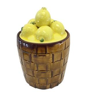 Lemon Basket Cookie Jar