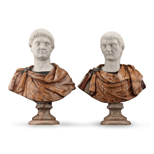 Italian 17th-Century Italian Portrait Busts For Sale - Image 3 of 11