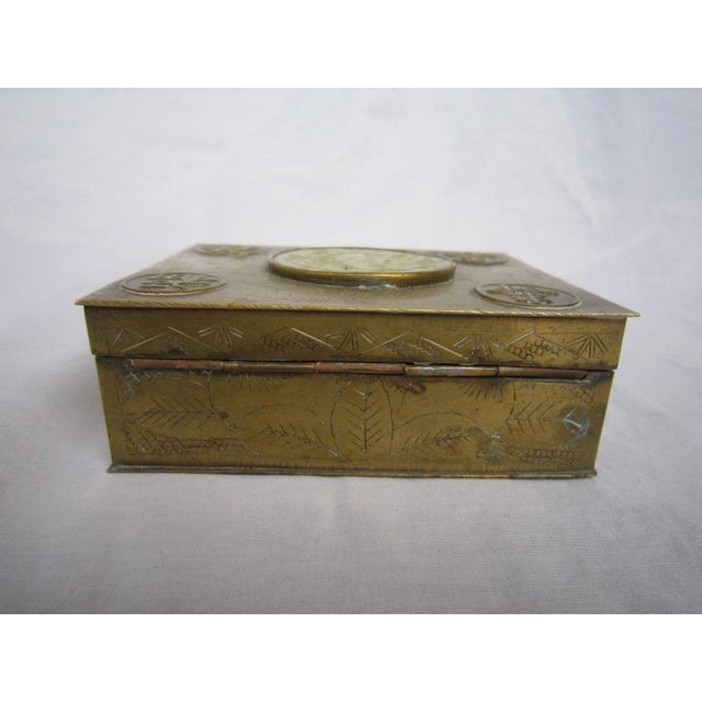 Chinese Brass & Jadeite Box For Sale - Image 5 of 7