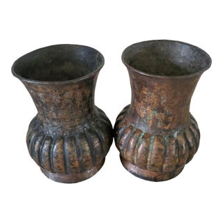 Vintage Copper Drinking Cups - A Pair For Sale