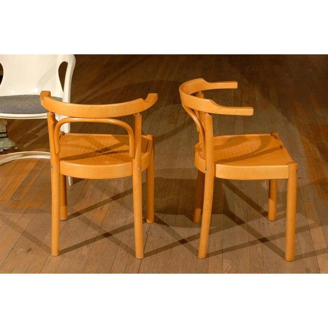 Light Yellow Midcentury Beechwood Armchairs, Hans Wegner - Pair For Sale - Image 8 of 8