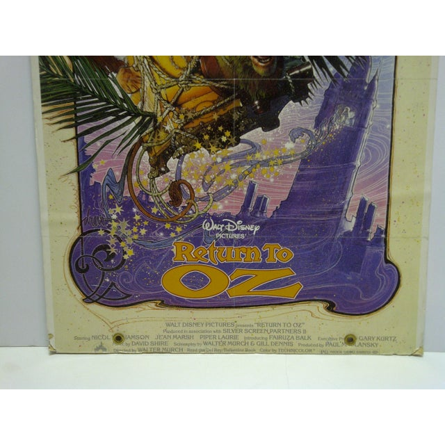 """Walt Disney's Return to Oz"" Mounted Original Movie Poster For Sale - Image 4 of 6"