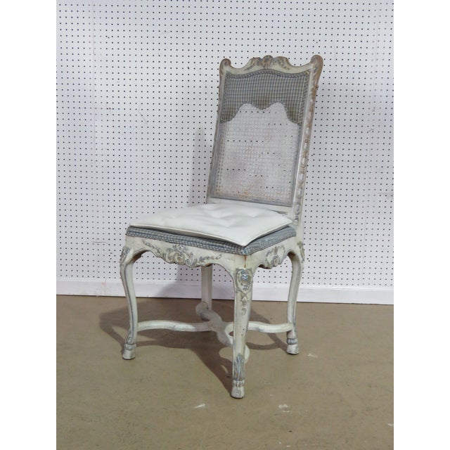 Swedish Rococo Style Desk Chair For Sale - Image 9 of 9