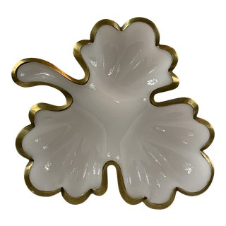 Mid-Century Opaline White Dish For Sale