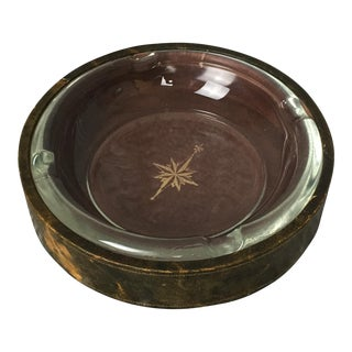 Polished Lambskin Compass Ashtray For Sale