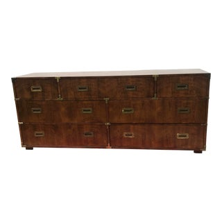 Vintage Henredon Campaign Triple Dresser Circa 1970's For Sale