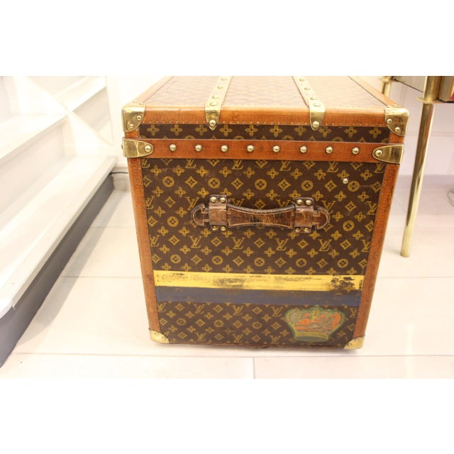 Contemporary Louis Vuitton Monogram Steamer Trunk For Sale - Image 3 of 12