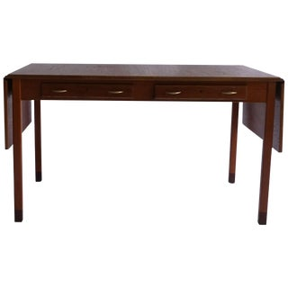 Mid-20th Century D. Rosen Teak Desk From Sweden For Sale