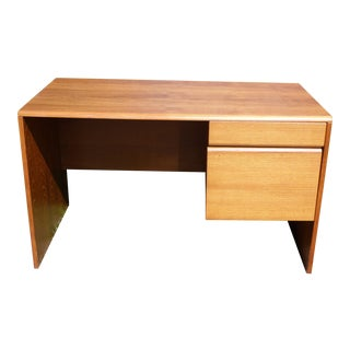 Vintage Mid Century Danish Modern Teak Office Writing Desk Denmark For Sale