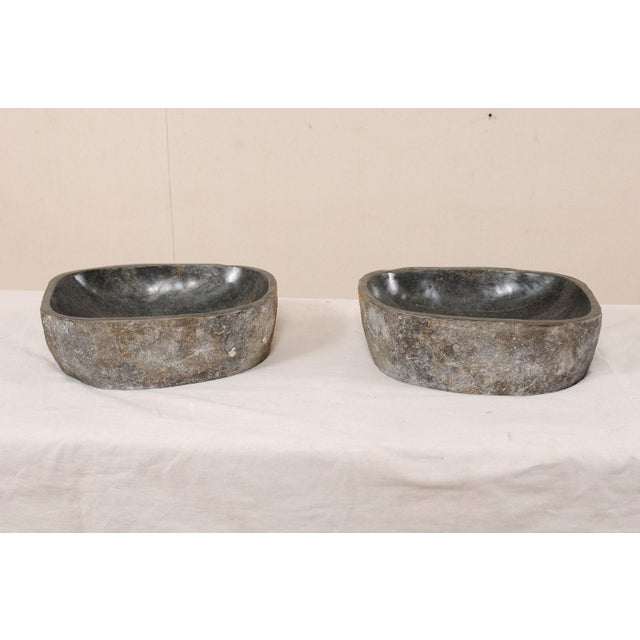 Natural Handcrafted River Rock Sinks-A Pair For Sale In Atlanta - Image 6 of 11
