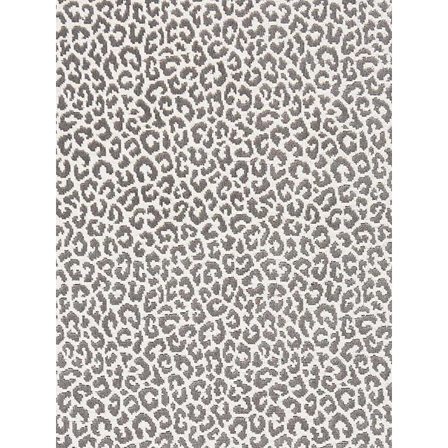 Sample, Scalamandre Panthera Velvet, Smoke Fabric For Sale