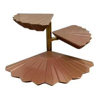 Italian Tiered Occasional Table Style of Gabriella Crespi For Sale