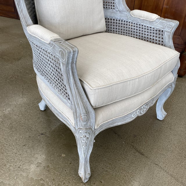 French Balloon Caned Porters Canopy Chairs - a Pair For Sale - Image 9 of 13