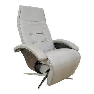 Roche Bobois Mistral Leather Recliner For Sale
