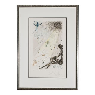 Reclining Nude Print by Salvador Dali, Framed For Sale
