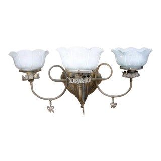 Edwardian Gas Wall Lamp Converted to Electric For Sale