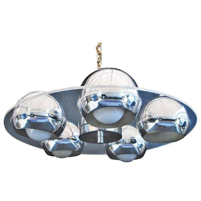 1960s Lucite and Chrome Light For Sale - Image 5 of 5