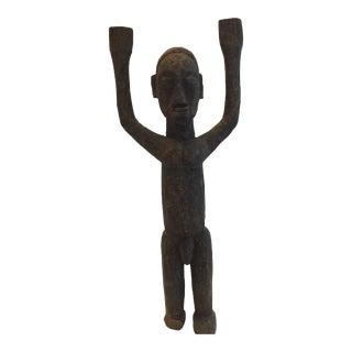 Vintage Hand-Carved African Bateba For Sale