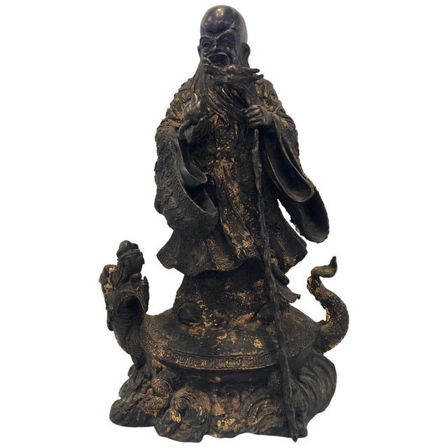 18th-19th Century Figure One of the Three Gods of Good Fortune For Sale - Image 13 of 13