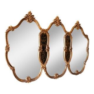 Vintage Regency Triple Mirror