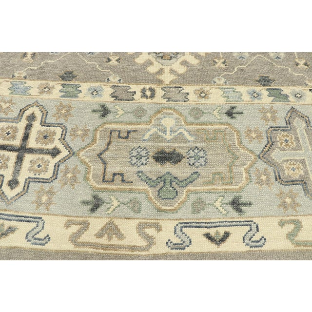 Contemporary Turkish Oushak Rug With Modern Style - 08'11 X 12'07 For Sale - Image 4 of 9