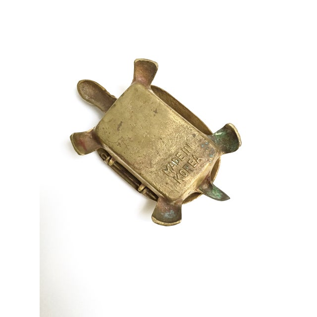 Antique Lidded Brass Turtle Trinket Box - Image 9 of 11