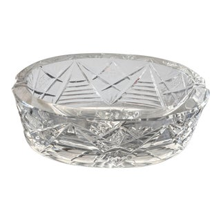 Vintage Glam Lead Crystal Ashtray For Sale