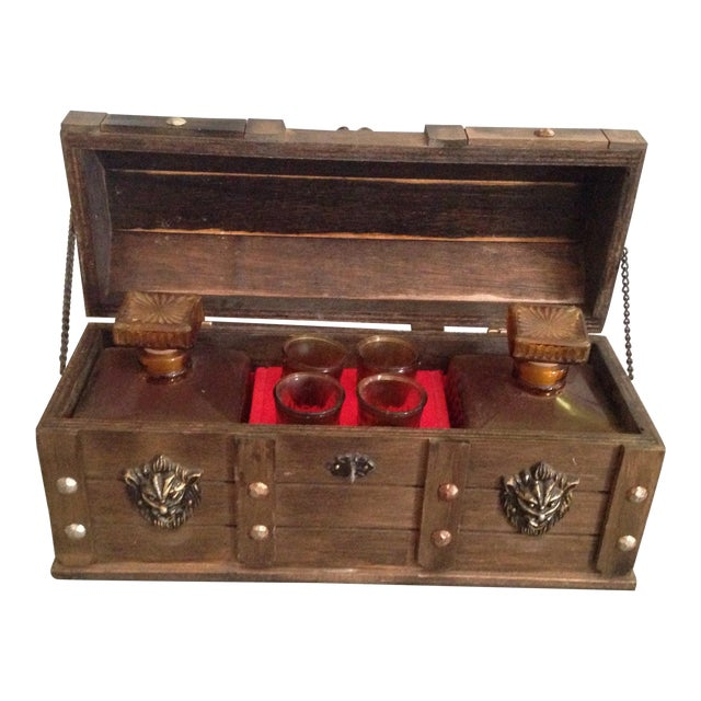 Vintage Lion Decanter Chest - Image 1 of 7