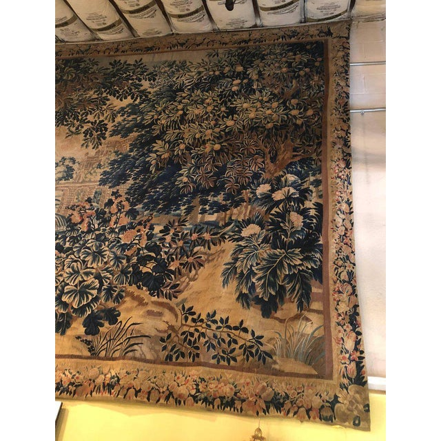 Mid 18th Century A 17th / Early 18th Century Flemish Pastoral Tapestry Prov. Christies NYC. For Sale - Image 5 of 12