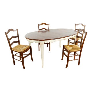 Ethan Allen French Country 4 Seat Dining Set - 5 Pieces For Sale