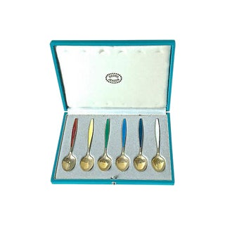 Georg Jansen Mid-Century Sterling Spoons - Set of 6 For Sale