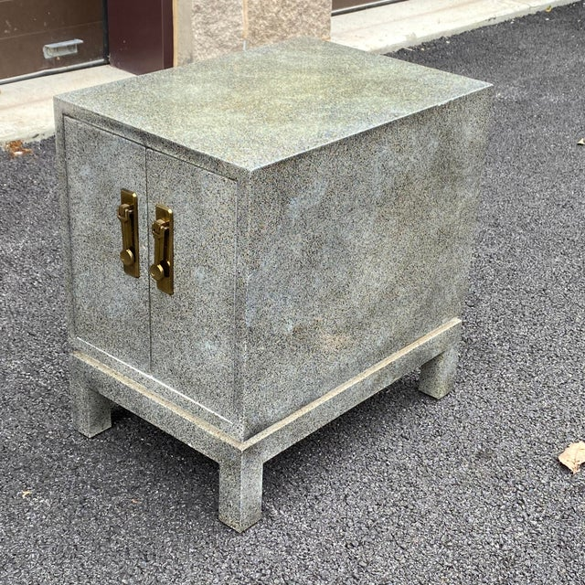 Late 20th Century Karl Springer Style Cabinet Side Table For Sale - Image 5 of 13