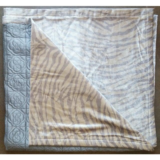 Silk & Velvet Quilt Coverlet - Image 3 of 4