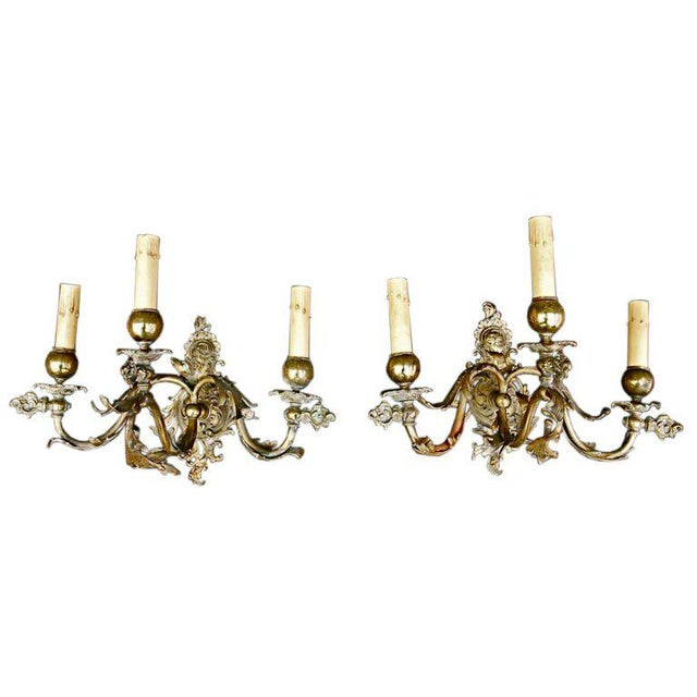 French French 19th Century Sconces - a Pair For Sale - Image 3 of 3