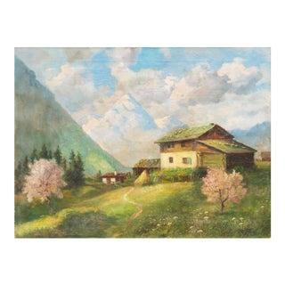 'Alpine Landscape', 1950s For Sale