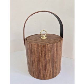 Vintage Mid Century Faux Bois Ice Bucket Preview
