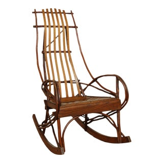 Adirondack Vintage Bentwood Twig Rocker For Sale