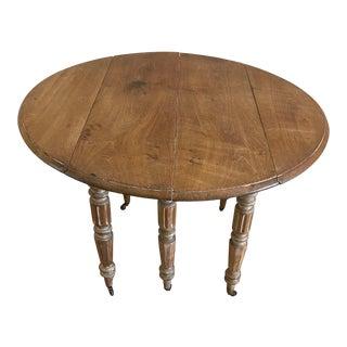 Provencal Varnished Folding Side Table For Sale