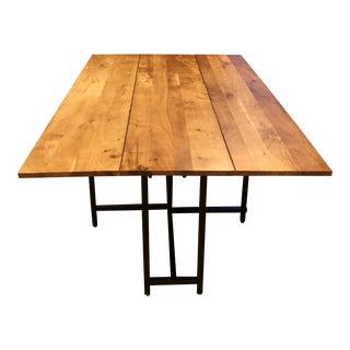Crate & Barrel Origami Drop Leaf Rectangular Dining Table