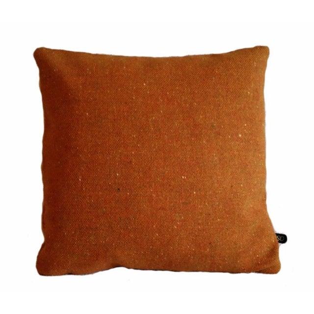 Maharam Melange Tweed Inca Orange Wool Pillow Cover - Image 1 of 2