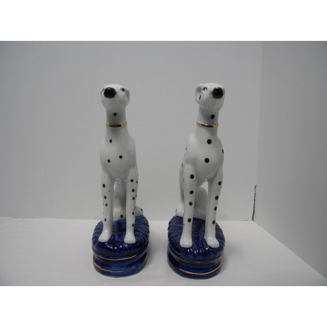 Staffordshire Style Dalmatian Bookends - a Pair For Sale - Image 9 of 10
