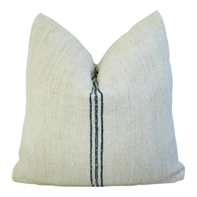 Custom French Grain Sack Down/Feather Pillow - Image 1 of 7