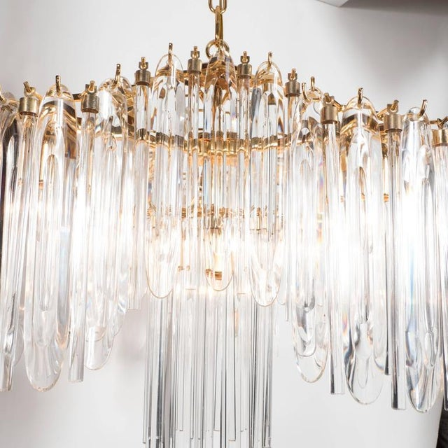 1970s Mid-Century Draped Design Chandelier by Lobmeyr, 24-Karat Gold-Plated Fittings For Sale - Image 5 of 10