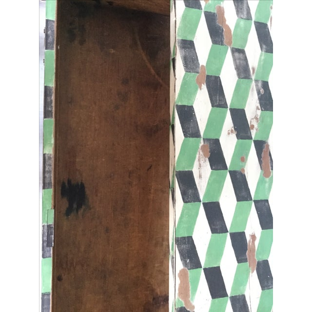 Geometric Hand Painted Antique Chest of Drawers - Image 8 of 10