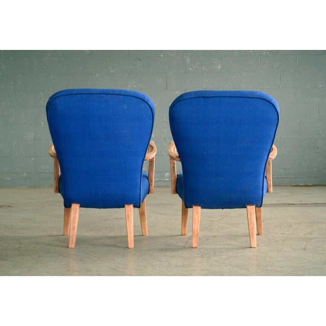 Pair of 1950s Danish Lounge Chairs in the Style of the Clam Chair by Arctander For Sale - Image 10 of 11