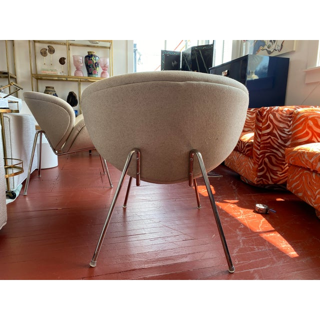 Pair of Vintage Tulips Chairs With Newly Upholstered For Sale - Image 9 of 13
