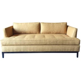 Mid-Century-Style Custom Love Seat For Sale