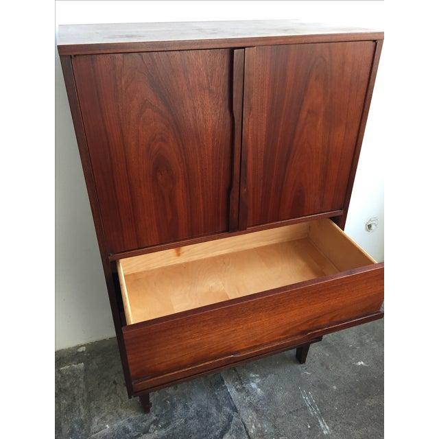 Mid Century Walnut Wood Tallboy Dresser - Image 4 of 11